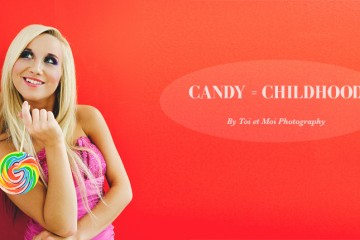 Candy-inspired photo shoot