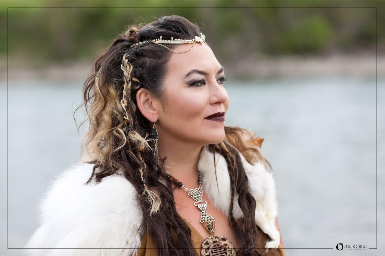 Viking goddess inspired shoot
